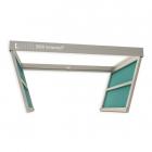 Алюминиевый потолочный люк под покраску с двумя створками VHID Book Horizontal 1100 мм
