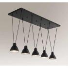 Люстра подвесная Shilo Masami 7950 современный, черный, металл