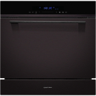Встраиваемая посудомоечная машина на 8 комплектов посуды Gunter&Hauer SL 3008 Compact черная/черное стекло