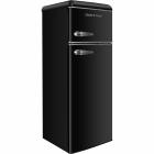 Двухкамерный холодильник Gunter&Hauer FN 275 G графит, ретро