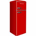 Двухкамерный холодильник Gunter&Hauer FN 275 R красный, ретро