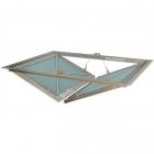 Потолочный люк в гипсокартон под покраску, с двумя створками VHID Wing Horizontal 1500 мм