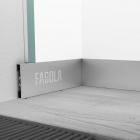 Плинтус алюминиевый в виде прямоугольника Fagola Linea Quattro