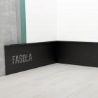 Плинтус скрытого монтажа с видимым кантом для больших комнат Fagola Linea larga для штукатурки
