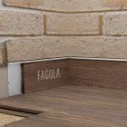 Универсальный скрытый плинтус с видимым кантом Fagola Linea Di Sette для штукатурки