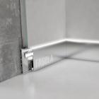 Плинтус скрытого монтажа с алюминиевой вставкой и теневым швом для подсветки Fagola Linia di luce