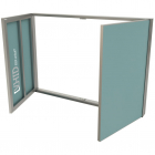 Ревизионный люк под покраску с двумя створками VHID Book Vertical 800 мм