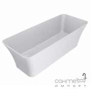 Отдельностоящая ванна из литого мрамора Miraggio Bonita 1800x750 белая глянцевая