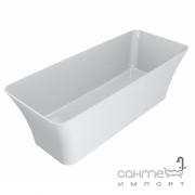 Отдельностоящая ванна из литого мрамора Miraggio Bonita 1800x750 белая матовая