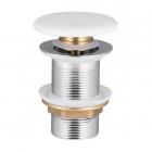 Донный клапан Volle 90-00-77W click-clack c белой керамической крышкой