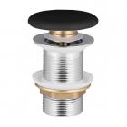 Донный клапан Volle 90-00-77Bl click-clack c черной керамической крышкой