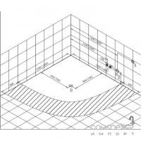 Угловая гидромассажная ванна Volle 12-88-103