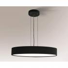 Люстра подвесная Shilo Bungo 5520 современный, черный, металл