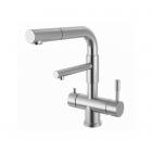 Смеситель для кухни с изливом для фильтрованной воды и вытяжной лейкой Zorg SZR 1068P-D-1-ARKADA нерж. сталь