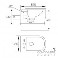 Унитаз подвесной Volle Puerta Rim 13-16-077 с мягким сидением + инсталляция Master 141515 + панель смыва хром