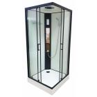 Гидромассажный бокс Veronis BKN-4-90 white профиль черный, стенки белые, двери прозрачные