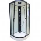 Гидромассажный бокс Veronis BN-4-90 white профиль черный, стенки белые, двери прозрачные