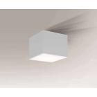 Светильник потолочный влагостойкий Shilo Suwa 7721 белый, металл, сталь, алюминий