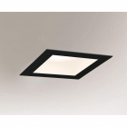 Точечный светильник встраиваемый влагостойкий Shilo Tottori IL 8059 современный, черный, сталь, алюминий