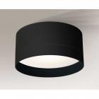 Светильник потолочный влагостойкий Shilo Tosa 8060 черный, металл, сталь, алюминий