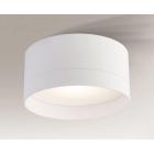 Светильник потолочный влагостойкий Shilo Tosa 7730 белый, металл, сталь, алюминий