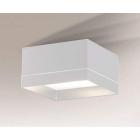 Светильник потолочный влагостойкий Shilo Tosa 7731 белый, металл, сталь, алюминий