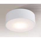 Светильник потолочный влагостойкий Shilo Zama 7734 белый, металл, сталь, алюминий