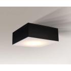 Светильник потолочный влагостойкий Shilo Zama 8063 черный, металл, сталь, алюминий