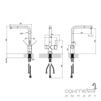 Смеситель для кухни с изливом для фильтрованной воды Q-tap Kuchyne 92107FC хром