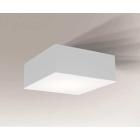 Светильник потолочный влагостойкий Shilo Zama 7739 белый, металл, сталь, алюминий