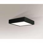Светильник потолочный влагостойкий Shilo Nomi 8072 черный, металл, сталь, алюминий