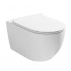 Подвесной безободковый унитаз с сидением Asignatura Simple Bend Whirpool 37822805 белый