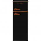 Двухкамерный холодильник Gunter&Hauer FN 275 СG графит, медь, ретро
