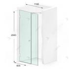 Душевая дверь в нишу Weston Shower Doors W024 хром/прозрачное стекло 1190*2000