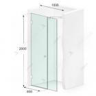Душевая дверь в нишу Weston Shower Doors W024 хром/прозрачное стекло 1035*2000