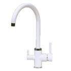 Cмеситель для кухни с изливом для фильтрованой воды Fabiano FKM 31.3 Alpine White белый