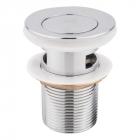 Донный клапан с переливом Lidz LIDZCRM410000400 хром
