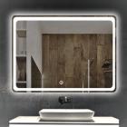 Смарт-зеркало с LED-подсветкой и часами Dusel DE-M3051 65x80
