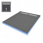 Пристенная душевая плита под отделку с душевым трапом и сифоном WIM Platte System Professional 1SP 90