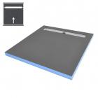 Душевая плита под отделку с душевым трапом и сифоном WIM Platte System Professional 1S 100