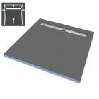 Душевая плита под отделку с душевым трапом и сифоном WIM Platte System Professional 4S 90