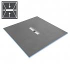 Душевая плита под отделку с душевым трапом и сифоном WIM Platte System Slim Professional 4S 90