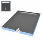 Пристенная душевая плита под отделку с боковым выводом WIM Platte System Monolit Smart 1SNP 90