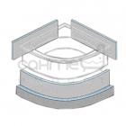 Панель под облицовку закругленной ванны WIM Wimplatte Vario 1S, толщина 50 мм