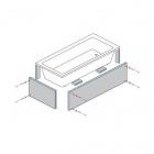 Панель под облицовку прямоугольной ванны WIM Wimplatte, толщина 50 мм