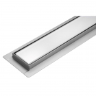 Линейный душевой трап Fala White Glass Wet&Dry решетка белое стекло