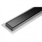 Линейный душевой трап Fala Black Glass Wet&Dry решетка черное стекло