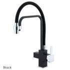 Смеситель для кухни с изливом для фильтрованной воды Fabiano FKM 3111 Matt Black черный