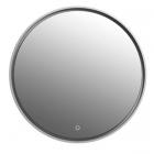 Зеркало с LED-подсветкой iStone Round WD2906-2F1 рама белый матовый камень 85х85