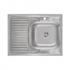 Кухонная мойка Imperial 6080-R 0.8 mm Decor нерж. сталь декор